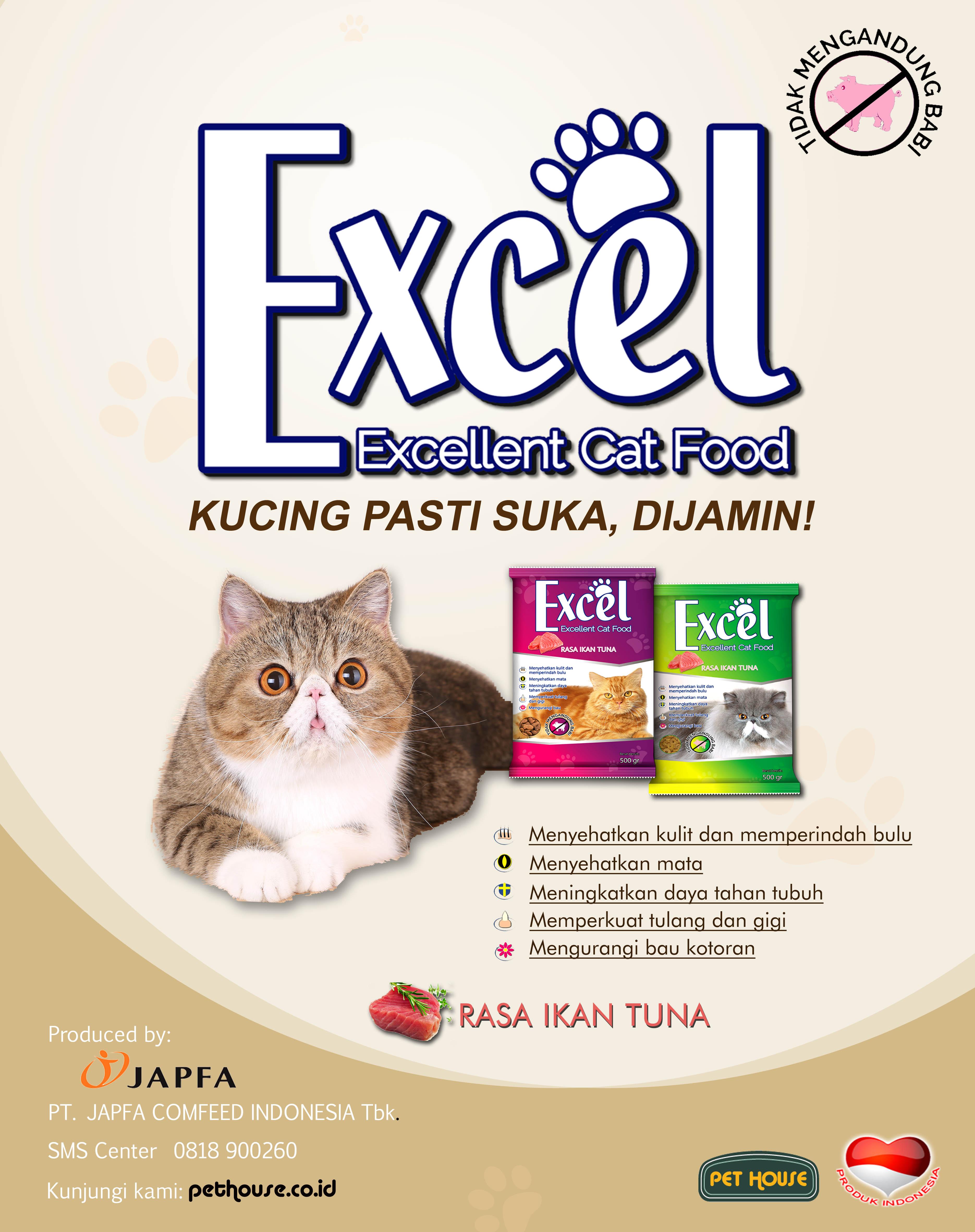 Excel pakan kucing istimewa