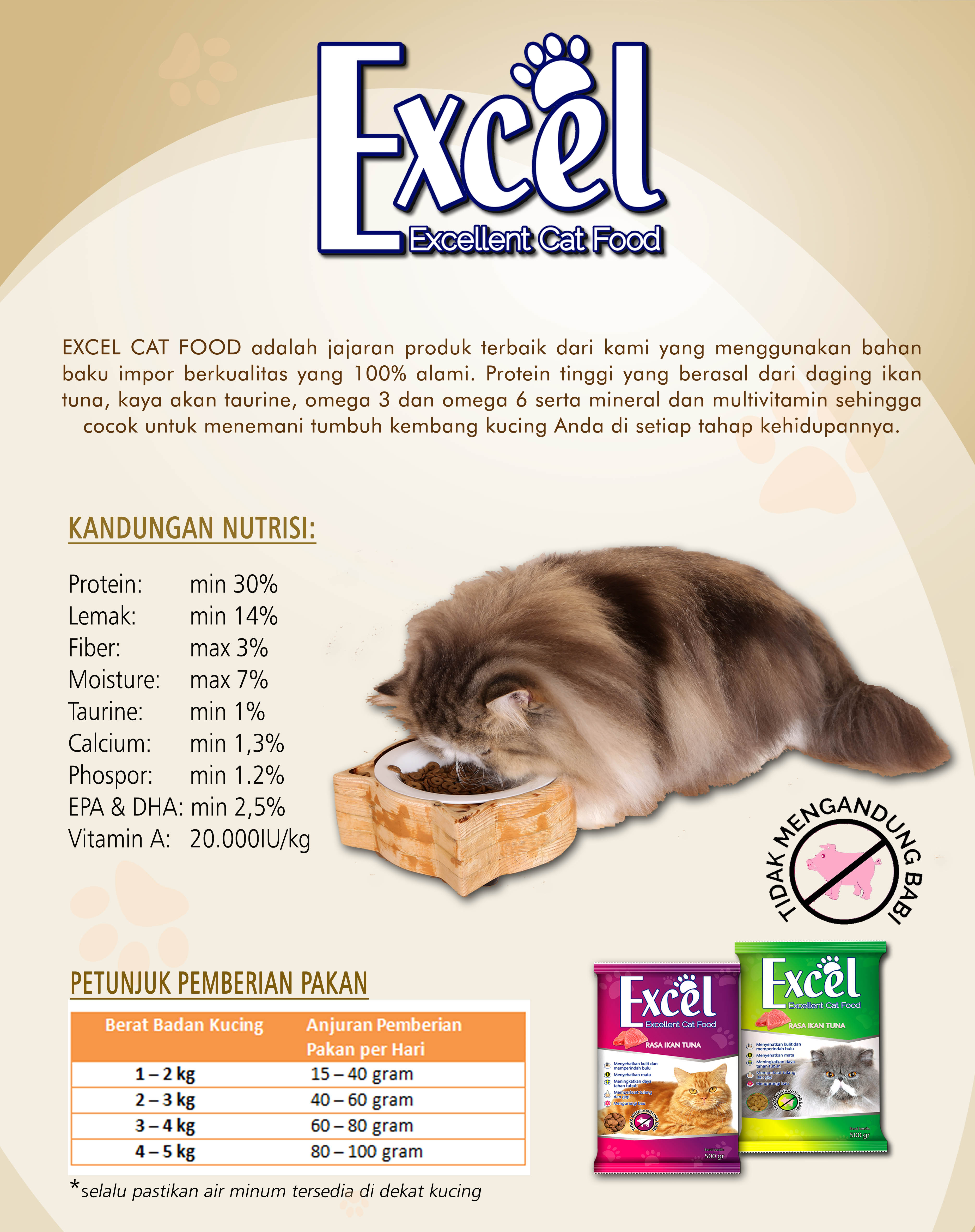 Pakan Kucing Excel Rasa Ikan Tuna