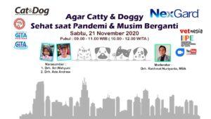 "Webinar Batch2 ""Deteksi Dini Perkemihan & Dermatitis Pada Catty & Doggy (Tonton Videonya dan Dapatkan Sertifikat)"